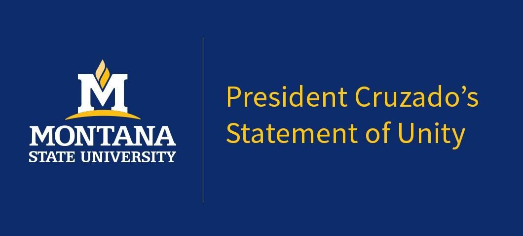 President Cruzado's Statement of Unity